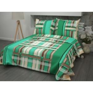 Комплект постельного белья с зелеными нотками