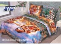 Комплект постельного белья из цветной бязи 1.5  простыня 150х214
